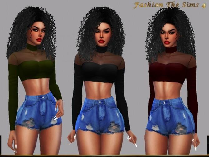 Sims 4 Top Dara by LYLLYAN at TSR