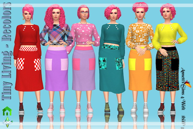 Sims 4 Tiny Living Recolors Part 3 at Annett's Sims 4 Welt