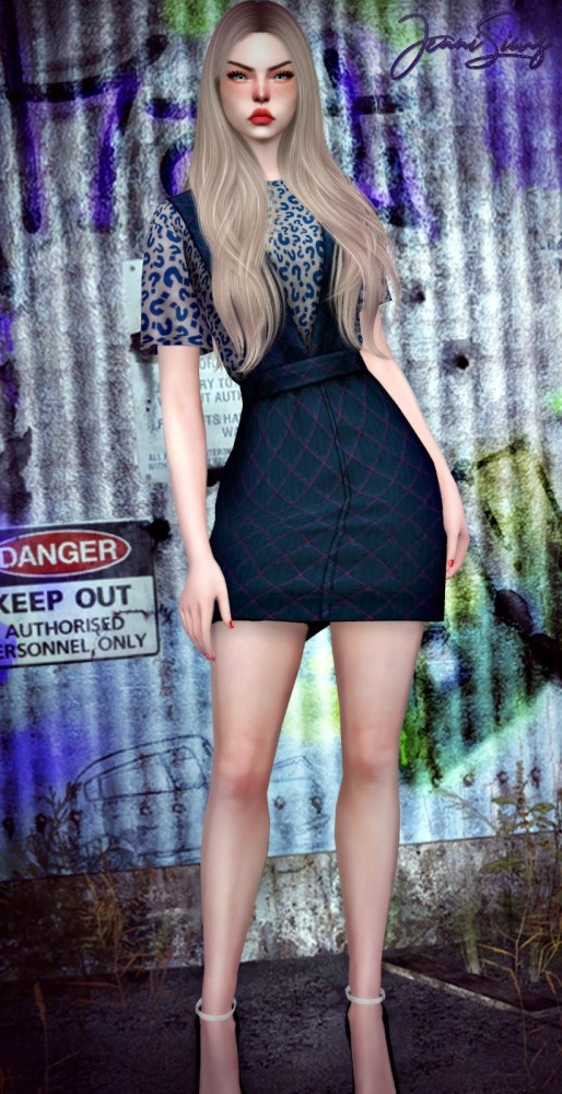 Base Game Compatible Dress at Jenni Sims image 1685 514x1000 Sims 4 Updates