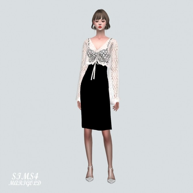See through Knit With Midi Dress at Marigold image 1686 670x670 Sims 4 Updates