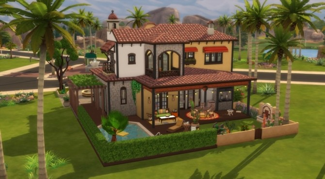 Sims 4 Esperanza house by Pyrenea at Sims Artists