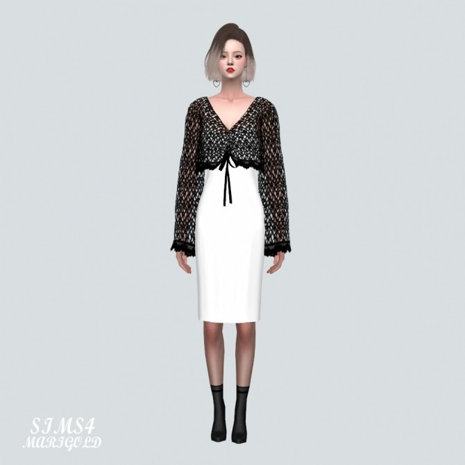 See through Knit With Midi Dress at Marigold image 1696 670x670 Sims 4 Updates