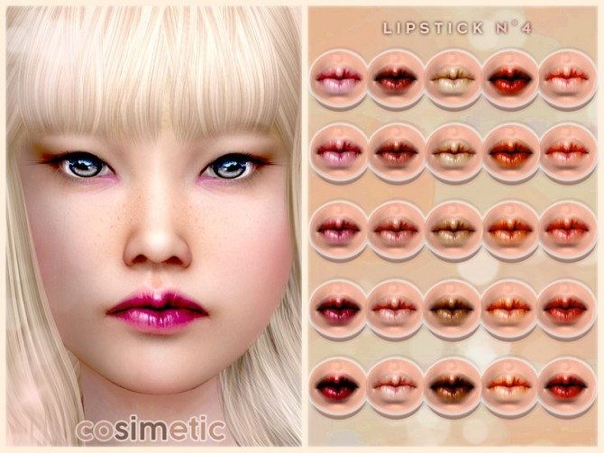 Sims 4 Lipstick N4 by cosimetic at TSR
