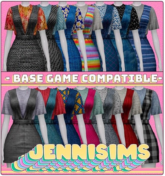 Base Game Compatible Dress at Jenni Sims image 1705 670x716 Sims 4 Updates