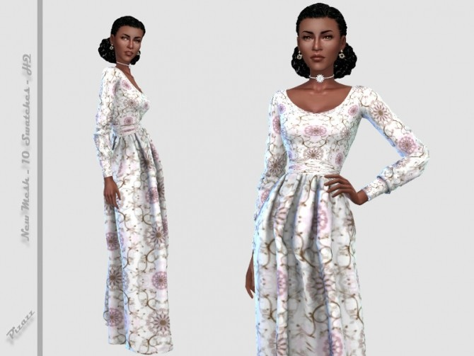 Evening Dress by pizazz at TSR image 1712 670x503 Sims 4 Updates