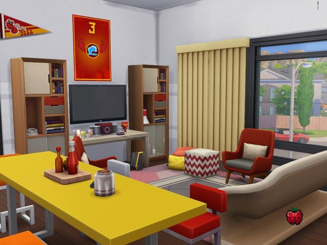 Sims 4 Phoenix dormitory no cc by melapples at TSR