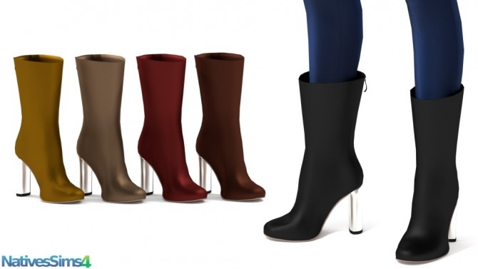 Sims 4 AMQ Leather Boots at Natives Sims 4