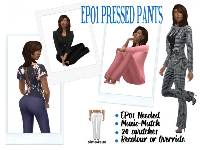 Sims 4 EP01 PRESSED PANTS at Sims4Sue