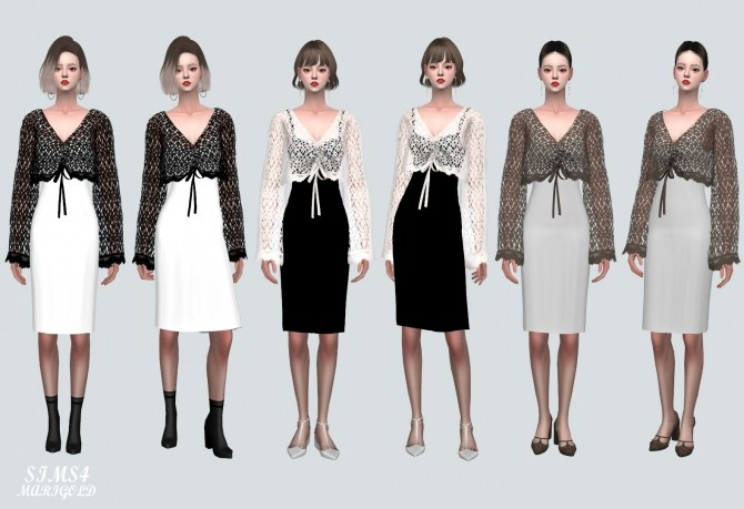 See through Knit With Midi Dress at Marigold image 1728 670x459 Sims 4 Updates