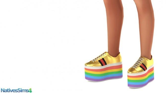 Sims 4 Platform Sneakers at Natives Sims 4
