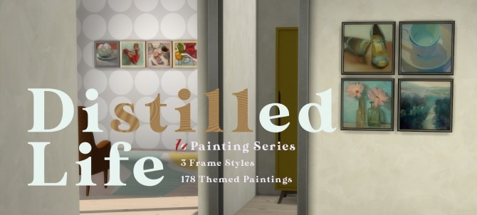 Frozen Moments paintings + frames at b5Studio image 1738 670x302 Sims 4 Updates