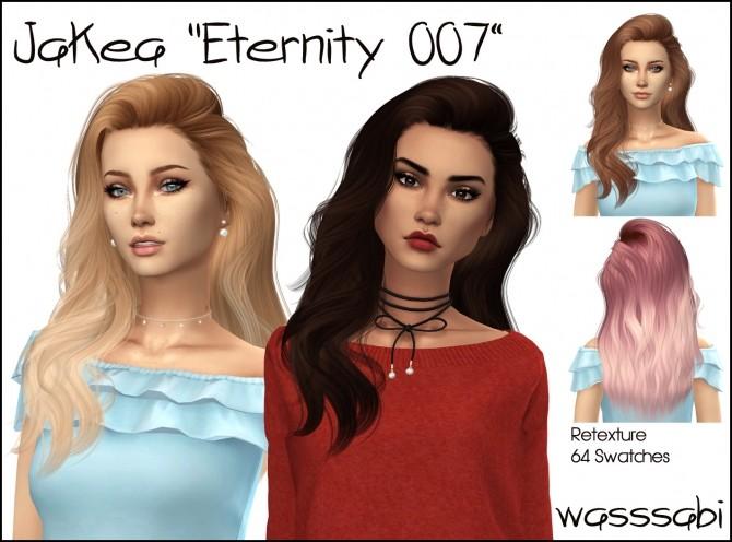 Sims 4 JakeaSims Eternity 007 hair retextured at Wasssabi Sims