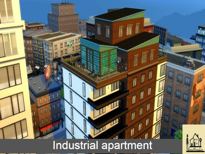 Industrial apartment by GenkaiHaretsu at TSR image 1750 670x503 Sims 4 Updates