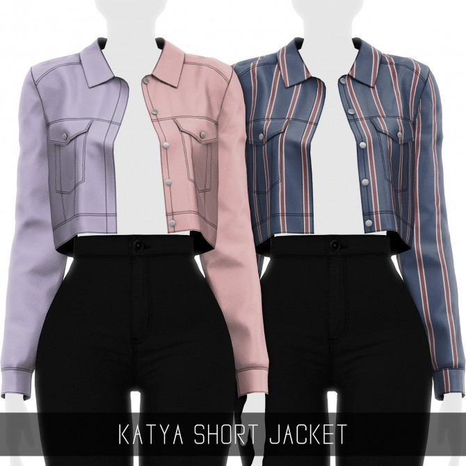 KATYA SHORT JACKET at Simpliciaty image 1754 670x670 Sims 4 Updates
