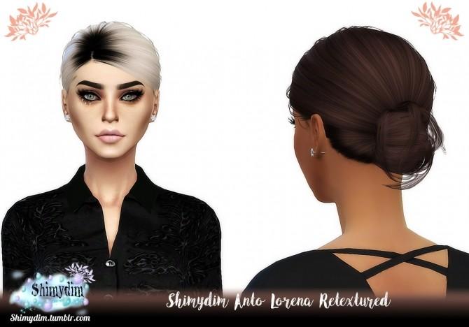 Sims 4 Anto Lorena Hair Retexture DarkRoots Naturals + Unnaturals at Shimydim Sims