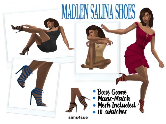 Sims 4 MADLEN'S SALINA SHOES at Sims4Sue