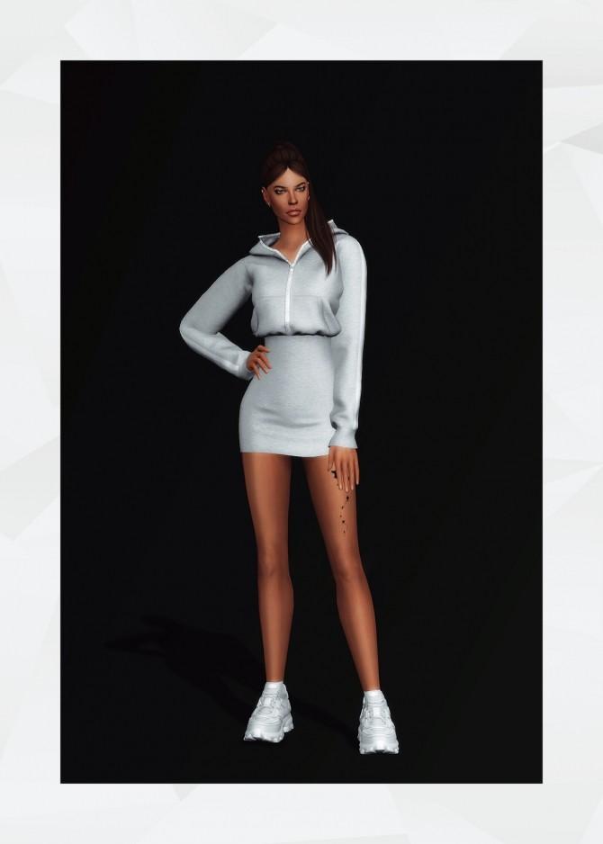 Sims 4 Delles Hoodie Dress at Gorilla