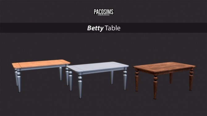 Betty Table (P) at Paco Sims image 1798 670x377 Sims 4 Updates