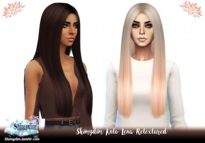 Sims 4 Anto Lena Hair Retexture + Ombre + Child Naturals + Unnaturals at Shimydim Sims
