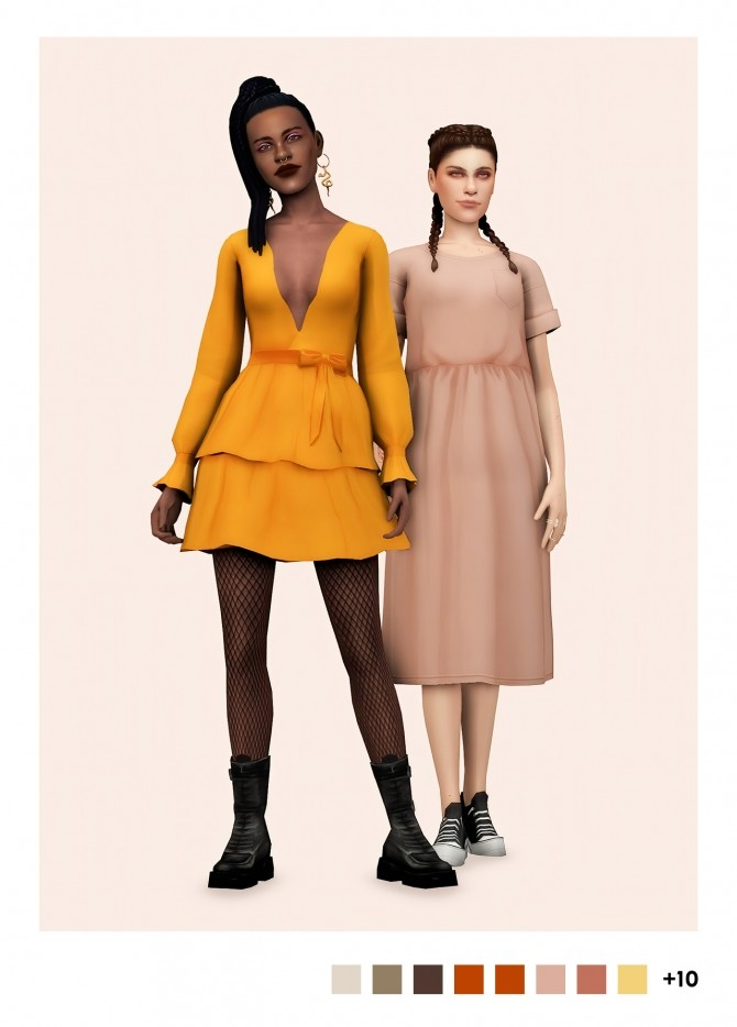 Sims 4 2 dresses at Sulsulhun