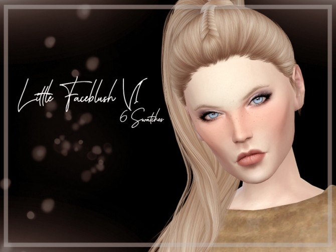 Sims 4 Little Faceblush V1 by Reevaly at TSR