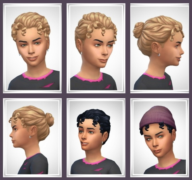 Kids Curly Bun Hair At Birksches Sims Blog Sims 4 Updates