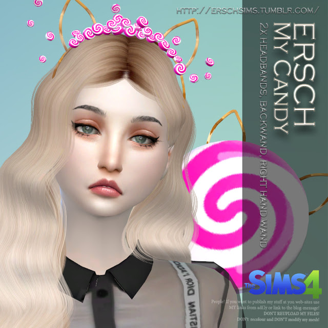 My Candy Set: headband and wand at ErSch Sims image 184 Sims 4 Updates