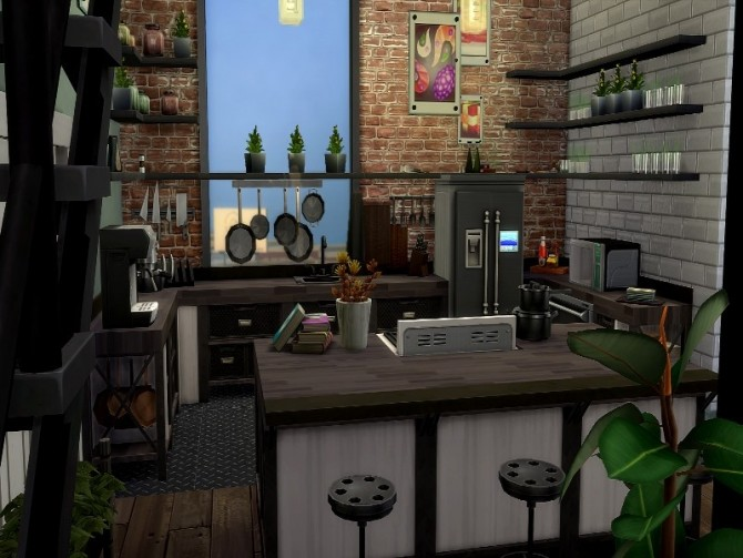 Industrial apartment by GenkaiHaretsu at TSR image 1840 670x503 Sims 4 Updates