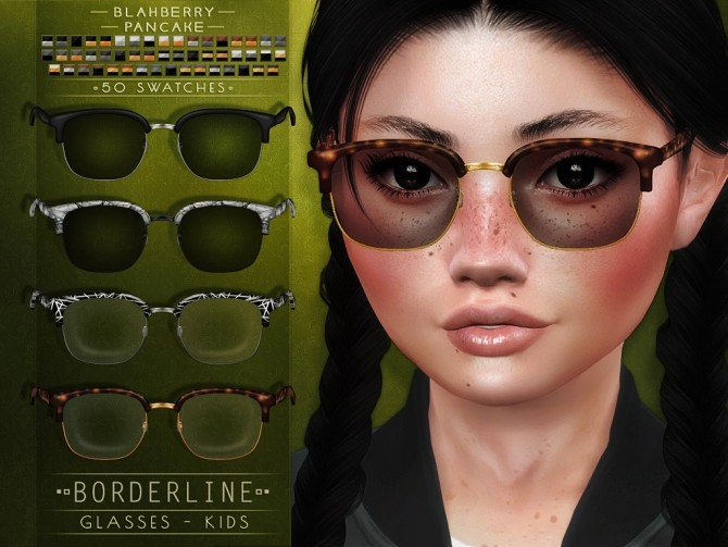 Borderline Glasses at Blahberry Pancake image 1907 670x503 Sims 4 Updates