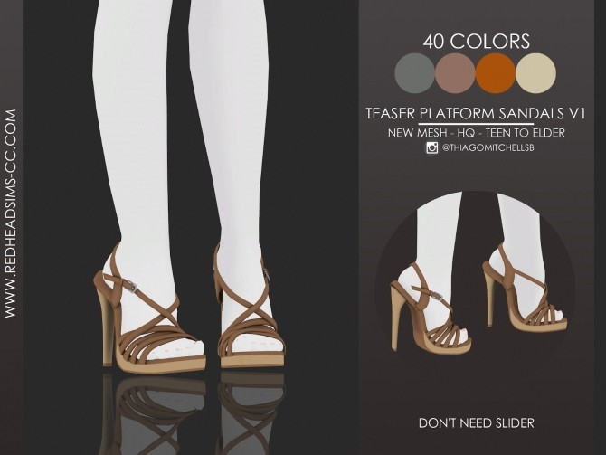 TEASER PLATFORM SANDALS by Thiago Mitchell at REDHEADSIMS image 1909 670x503 Sims 4 Updates