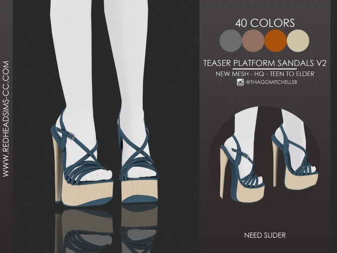 TEASER PLATFORM SANDALS by Thiago Mitchell at REDHEADSIMS image 19114 670x503 Sims 4 Updates