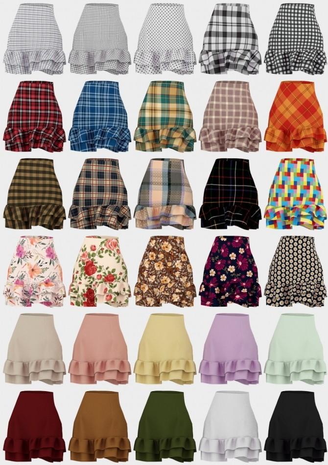 Sims 4 Hana Set: skirt and sweater at Daisy Pixels