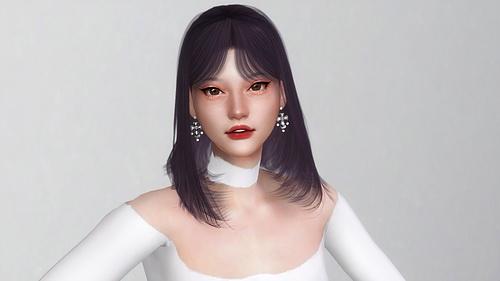 Sims 4 SAKURA HAIR at Obsidian Sims