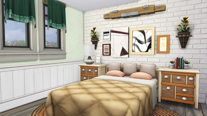 Sims 4 RUSTIC COUNTRY CRAFTSMAN FAMILY HOME at Aveline Sims