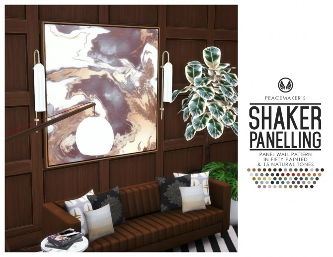 Shaker Panelling Simple Style in Natural & Painted Finishes at Simsational Designs image 1988 670x517 Sims 4 Updates