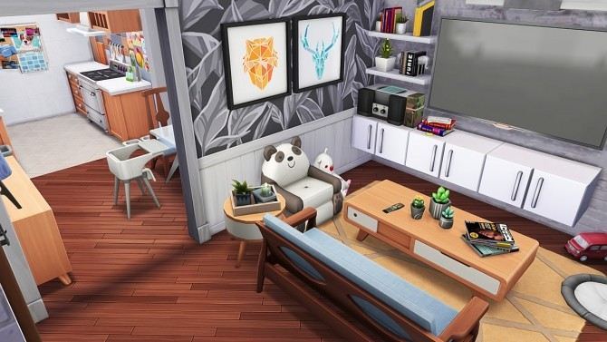 SINGLE DAD W/ ONE DAUGHTER APARTMENT at Aveline Sims image 1992 670x377 Sims 4 Updates
