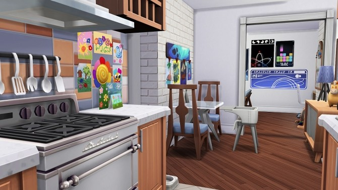SINGLE DAD W/ ONE DAUGHTER APARTMENT at Aveline Sims image 2002 670x377 Sims 4 Updates
