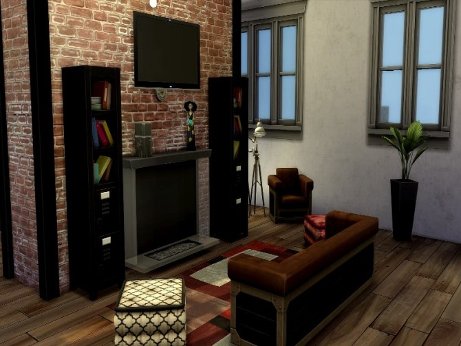 Industrial apartment by GenkaiHaretsu at TSR image 2037 670x503 Sims 4 Updates