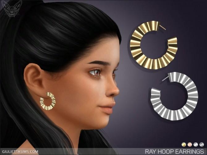 Sims 4 Ray Hoop Earrings For Kids at Giulietta