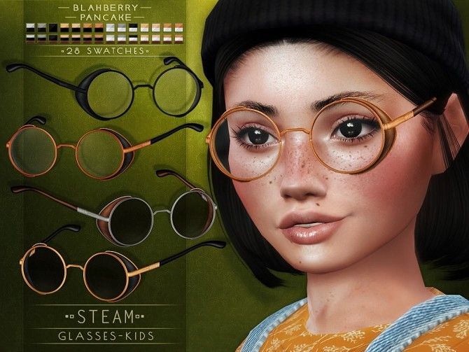 Sims 4 Steam glasses at Blahberry Pancake
