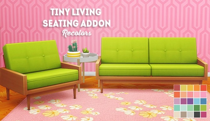 Tiny living seating addons recolors at Lina Cherie image 2077 670x386 Sims 4 Updates