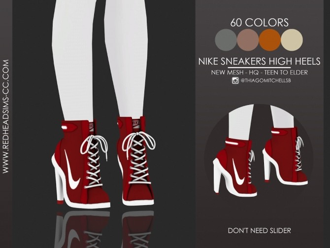 Sims 4 SNEAKERS HIGH HEELS by Thiago Mitchell at REDHEADSIMS