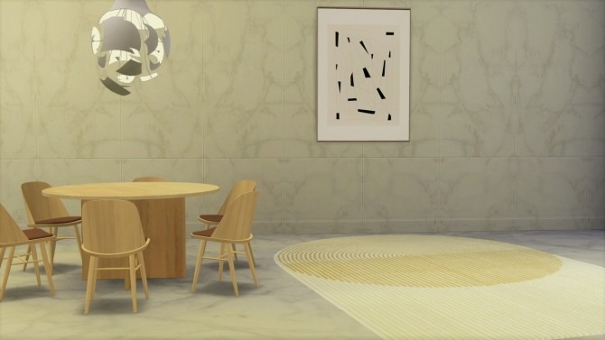 Sims 4 PLY YELLOW WOOL RUG at Meinkatz Creations