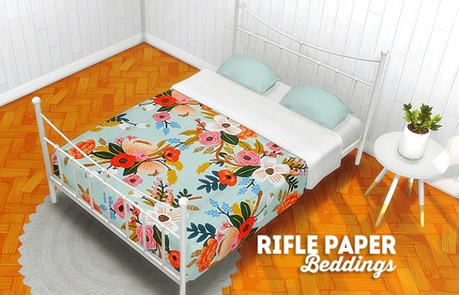 Rifle paper beddings at Lina Cherie image 2097 670x431 Sims 4 Updates