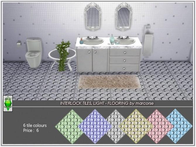 Sims 4 Interlock Tiles Light Flooring by marcorse at TSR