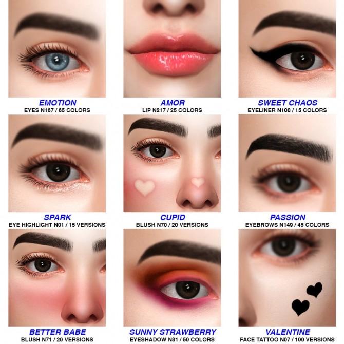 Sims 4 E girl make up collection at Praline Sims