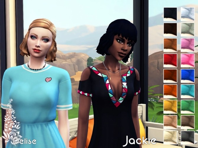 Jackie hair recolors by Delise at Sims Artists image 2121 670x503 Sims 4 Updates