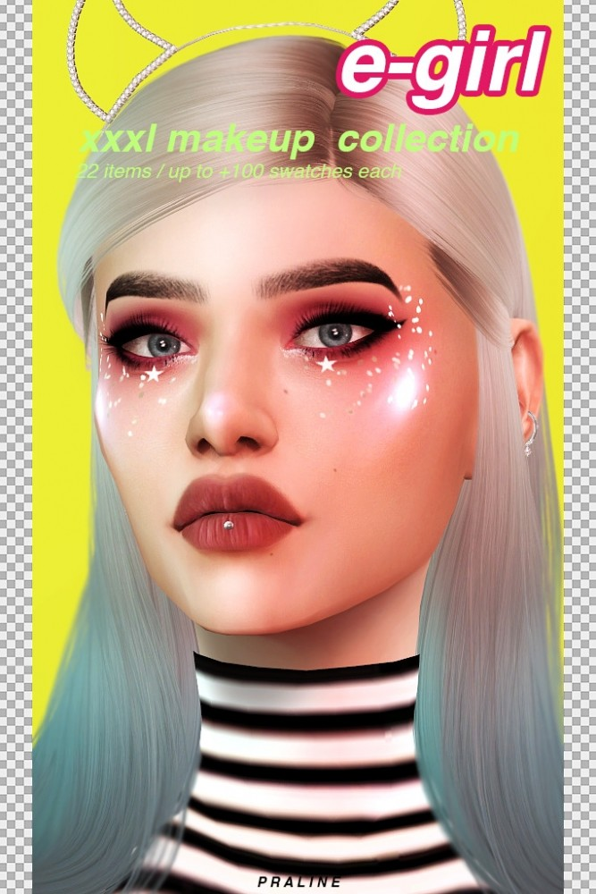 E girl make up collection at Praline Sims image 213 667x1000 Sims 4 Updates