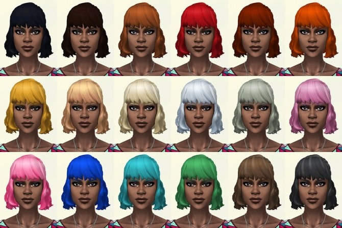Jackie hair recolors by Delise at Sims Artists image 2151 670x447 Sims 4 Updates