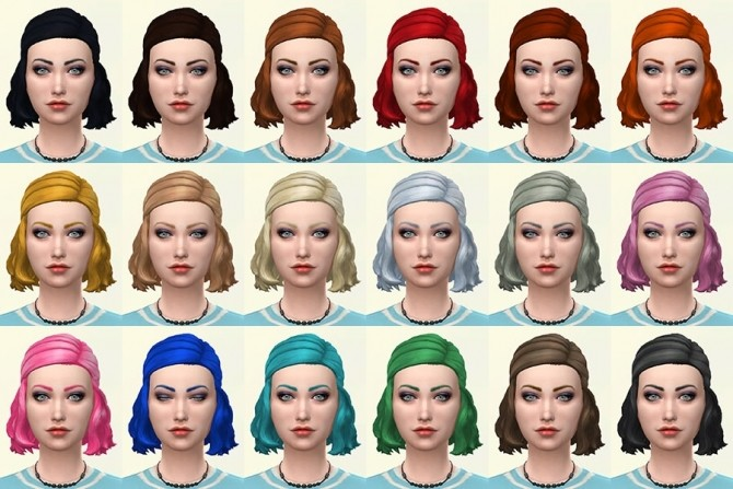 Jackie hair recolors by Delise at Sims Artists image 2161 670x447 Sims 4 Updates